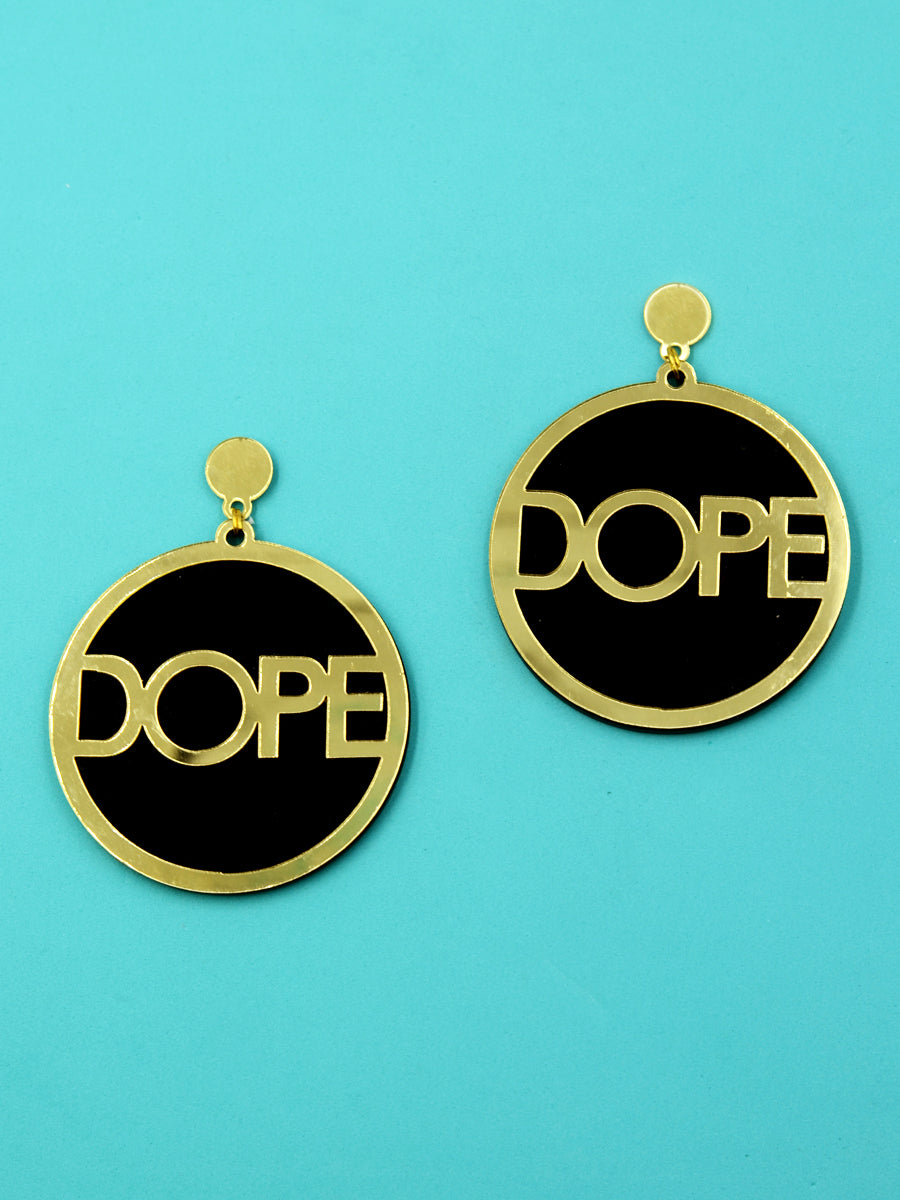 Dope Earrings, a quirky, unique, statement party-wear earrings from our designer collection of earrings for women online.