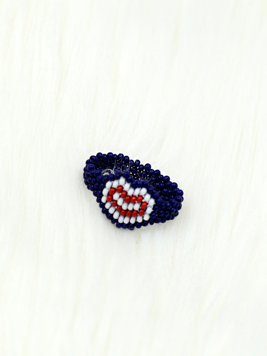 Videsi Thumb Ring, a cute tricolor ring from our latest quirky collection of rings online for girls.