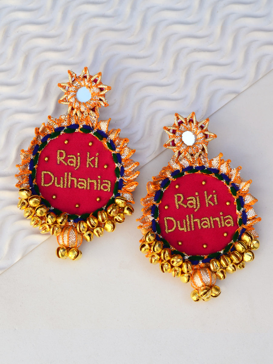 Customised Earrings (Dulhania Gota Patti Style)