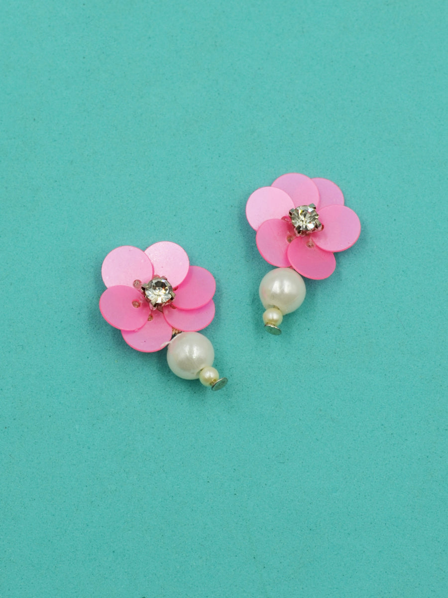Lilly Sequin Pearl Bead Earrings
