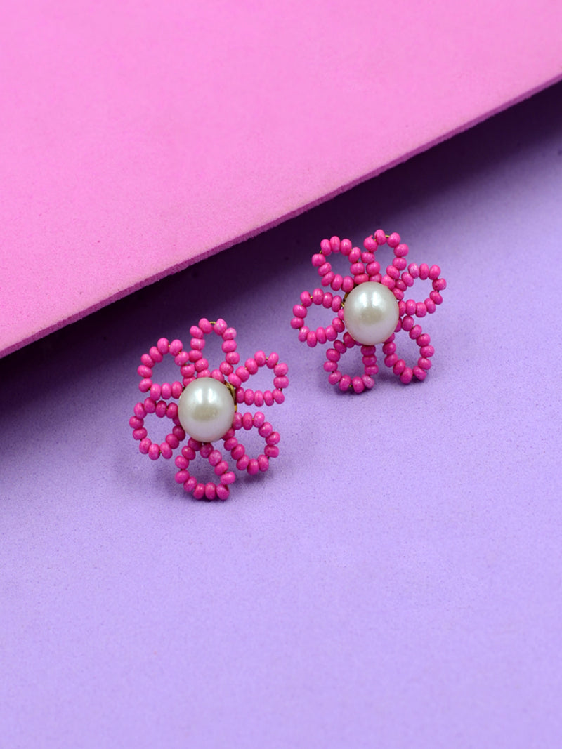 Ember Pearl Bead Earrings