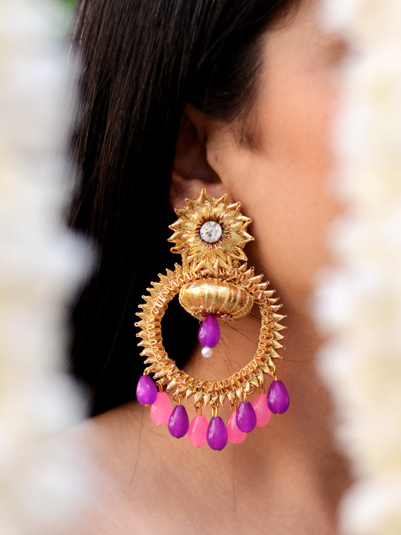 Bebo Gota Earrings, a gorgeous, unique gota earrings from our designer wedding collection of gota earrings for women online.