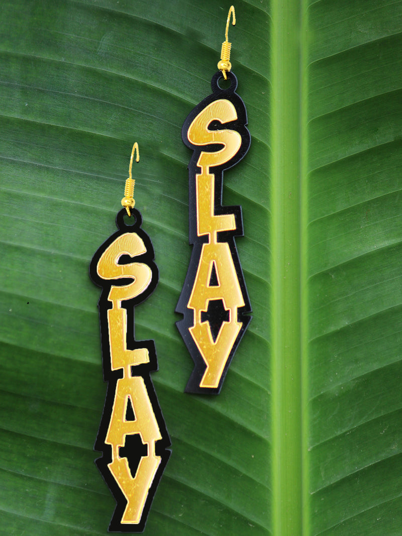Slay Earrings, a quirky, unique, statement party-wear earrings from our designer collection of earrings for women online.