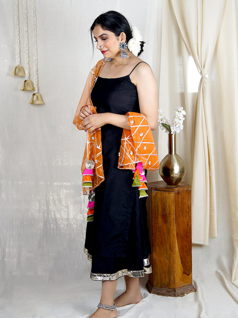 Shireen Dupatta with Gota Detailing (Orange)
