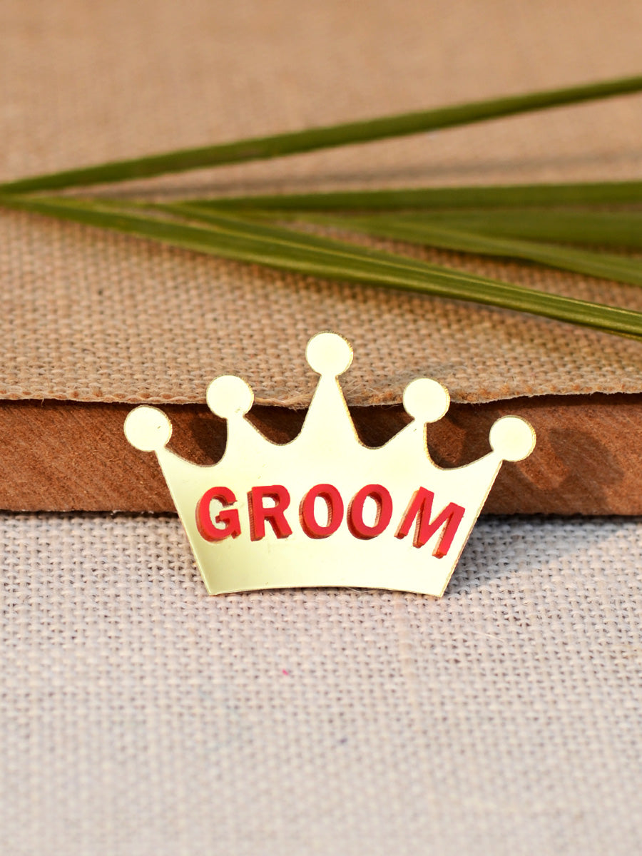 Groom Brooch, a handmade statement brooch from our wide range of latest quirky collection of brooches for men.