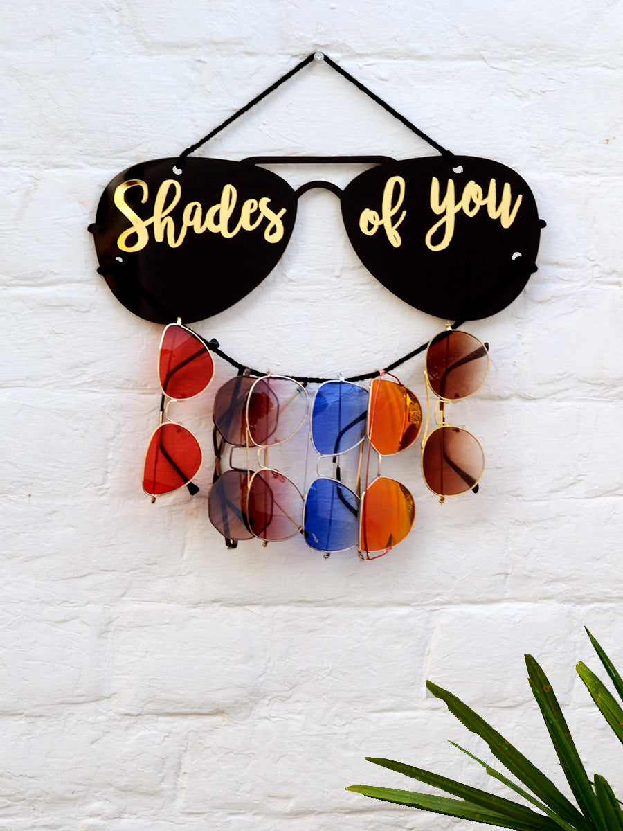 Shades of you - Sunglasses Holder, a unique handcrafted sunglass holder from our wide range of quirky, bohemian home decor products like key holders, sunglass holders and more.