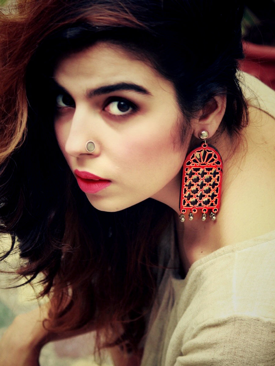 Darpan Mirror Hand-painted Earrings