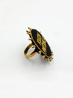 Kudi Pataka Embroidered Ring