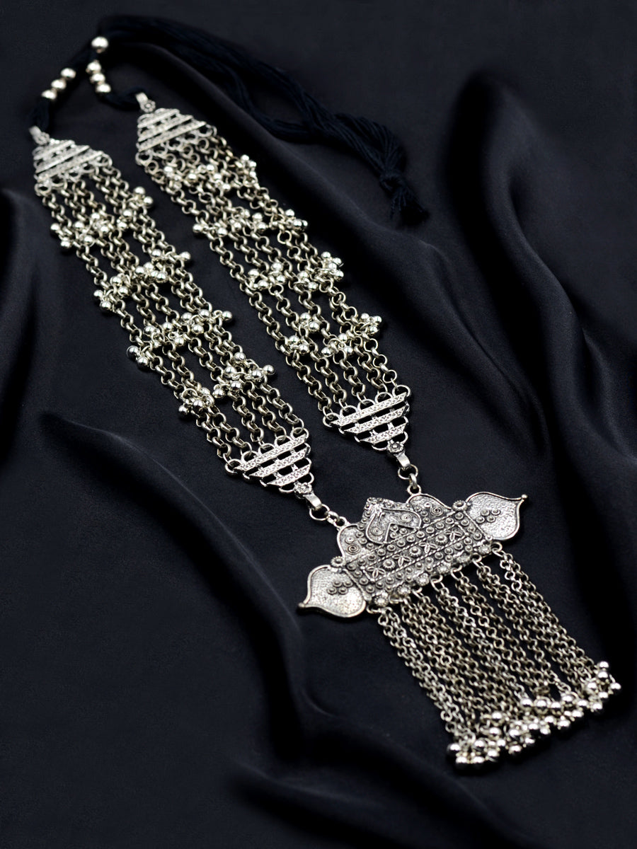 Riwaayat Silver Ghungroo Necklace