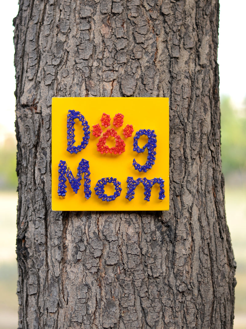 Dog Mom Thread Art, a unique handcrafted thread art from our wide range of quirky, bohemian home decor products like cushion covers, wall decor & wall art, wooden coasters, keychain holders and more.