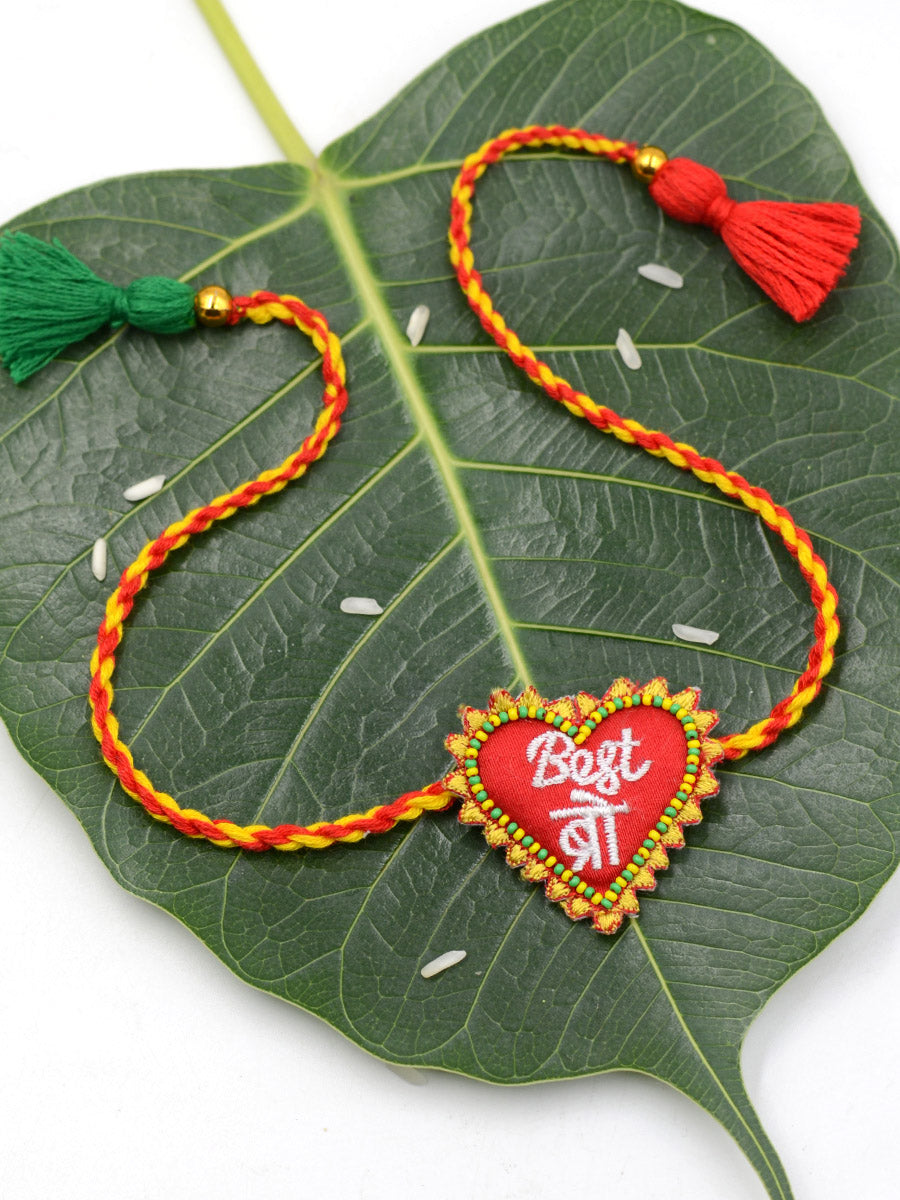 Best Bro Hand-Embroidered Rakhi