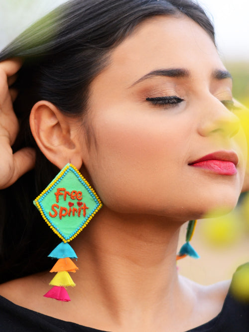 Free Spirit Embroidered Earrings