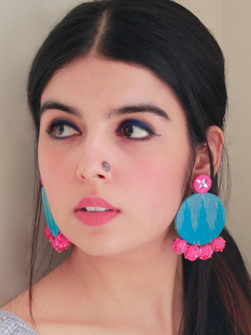 Azra Hand-Embroidered Earrings