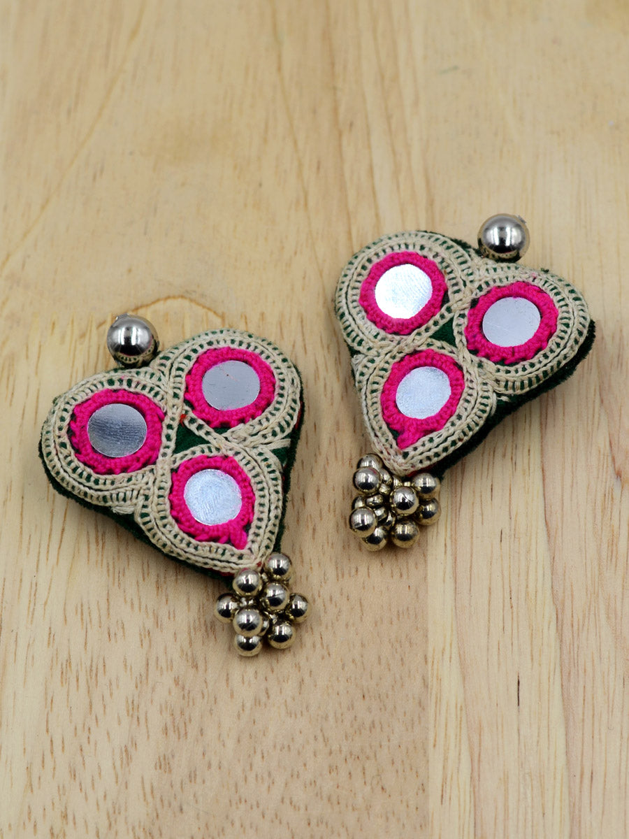 Boho Kutchy Ghungroo Earrings