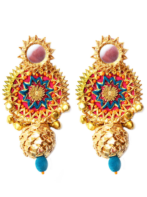 Bidayi Gota Earrings by krafted with happiness
