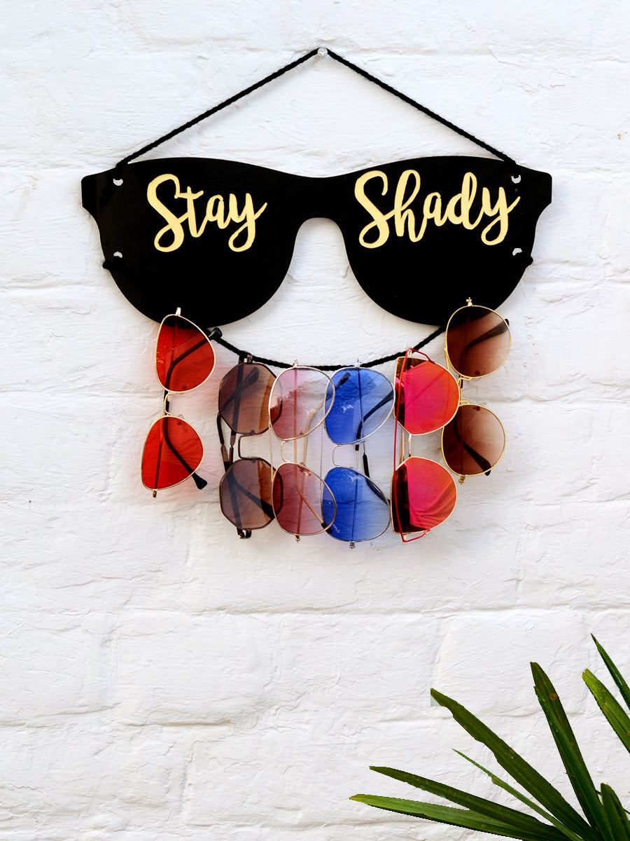 Stay Shady - Sunglasses Holder, a unique handcrafted sunglass holder from our wide range of quirky, bohemian home decor products like key holders, sunglass holders and more.