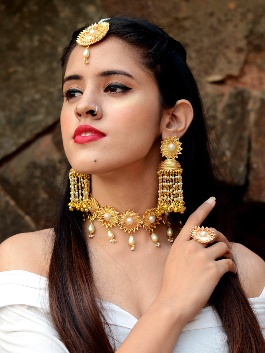 Ileana Gota-patti Jewellery Set