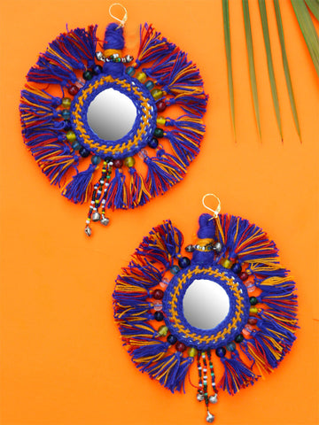 Selena Hand-embroidered Fringe Earrings