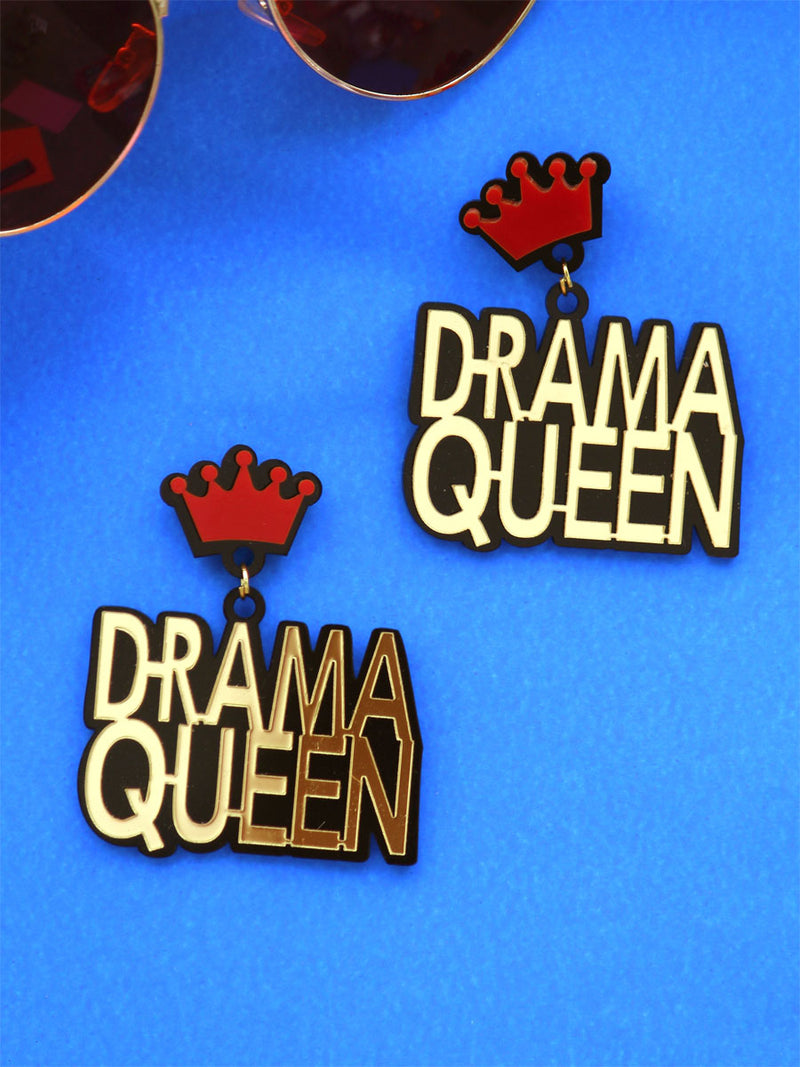 Drama Queen Earrings, a quirky, unique, statement party-wear earrings from our designer collection of earrings for women online.