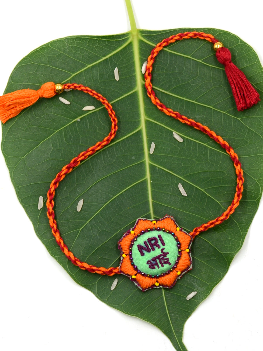 NRI Bhai Hand-Embroidered Rakhi