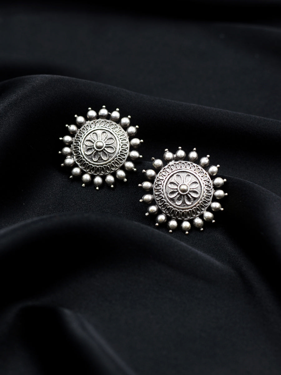 Nazaakat Silver Stud Earrings