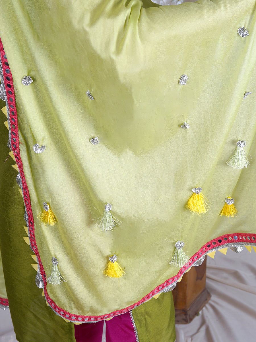 Seher Dupatta with Mirror Detailing