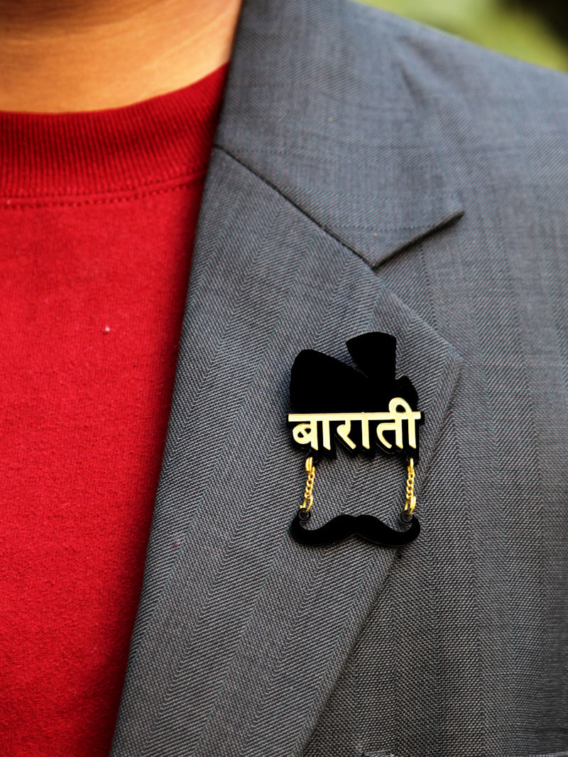 Barati Brooch, a quirky, handmade brooch from our wide range of wedding collection for men and women.