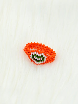 Tiranga Thumb Ring, a tricolor thumb ring from our designer collection of handcrafted and hand embroidered rings for girls.