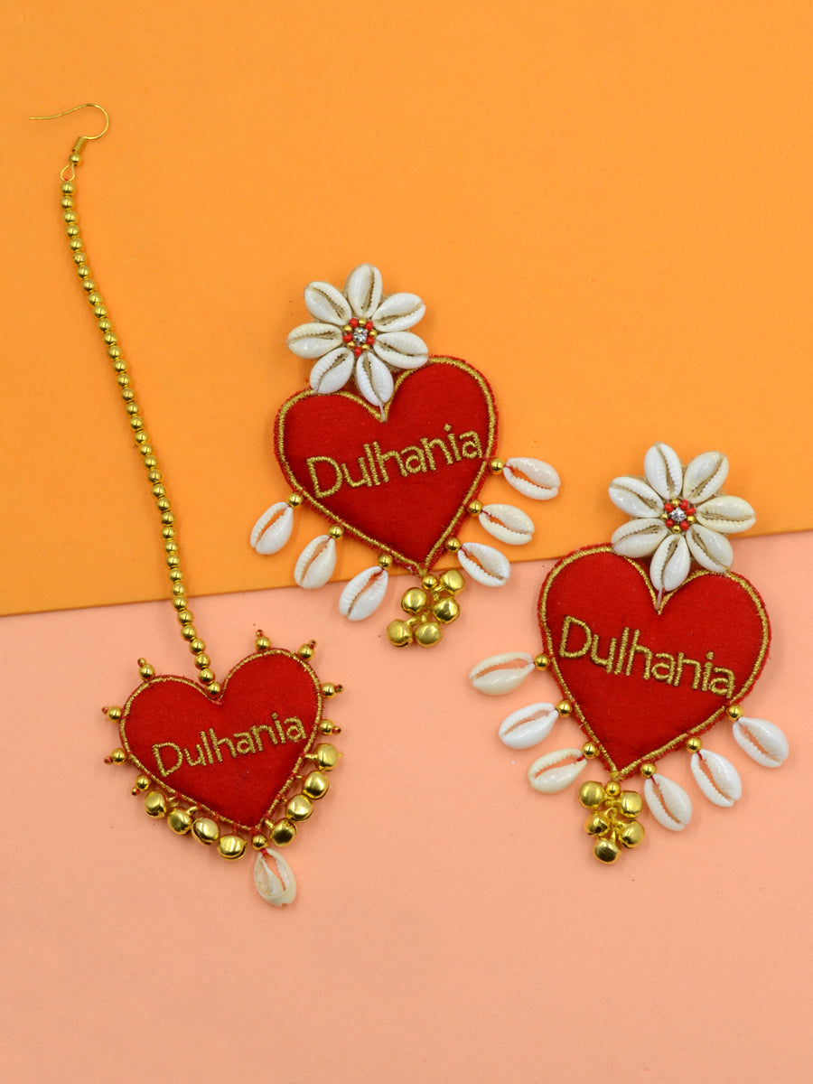 Dulhania Heart Embroidered Set