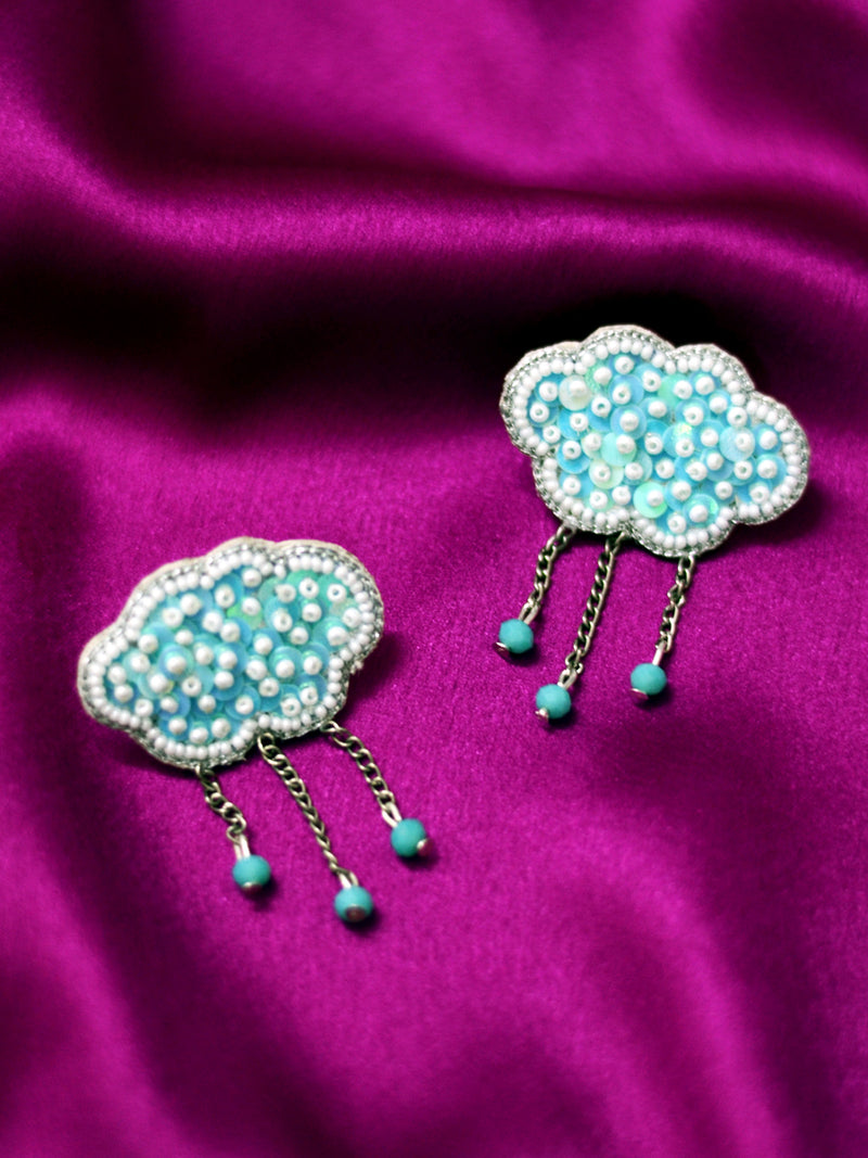 Cloud Candy Sequin Earrings, , a beautifully hand-embroidered earring from our designer collection of quirky, boho, Kundan and tassel earrings for women online.