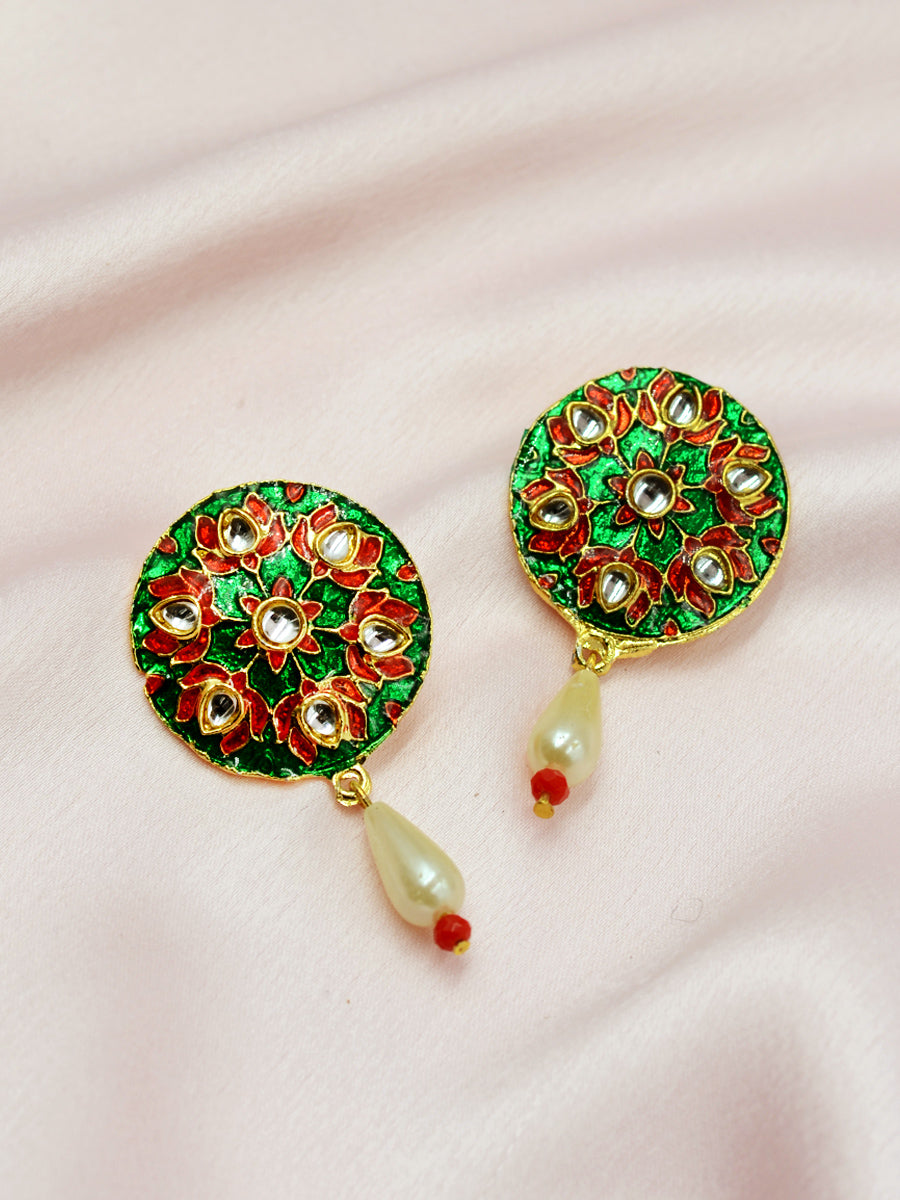 Advika Meenakari Earrings