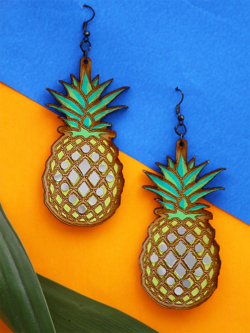 Pineapple Wooden Earrings