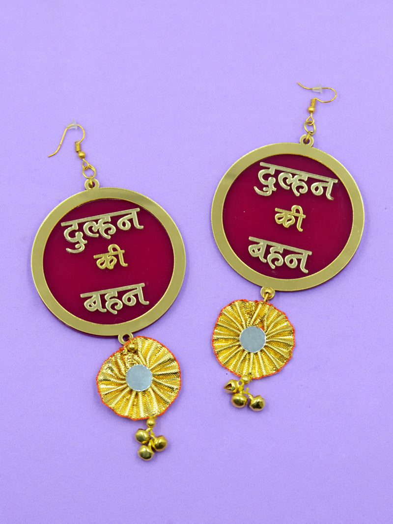 Dulhan ki Behen Gota Earrings