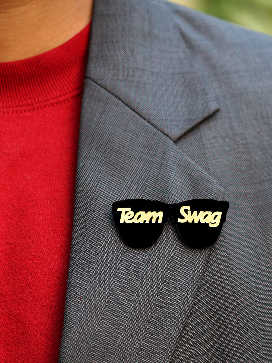 Team Swag Brooch, a quirky, handmade brooch from our wide range of wedding collection for men and women.