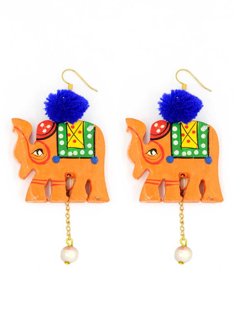 Elephant Pop earrings by krafted with happiness