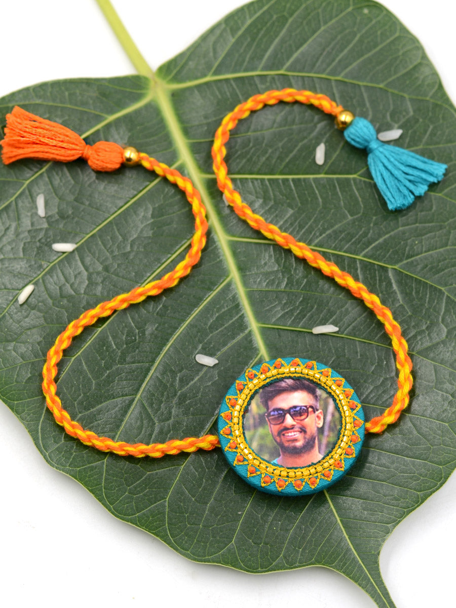 Customised Photo Rakhi (Round)