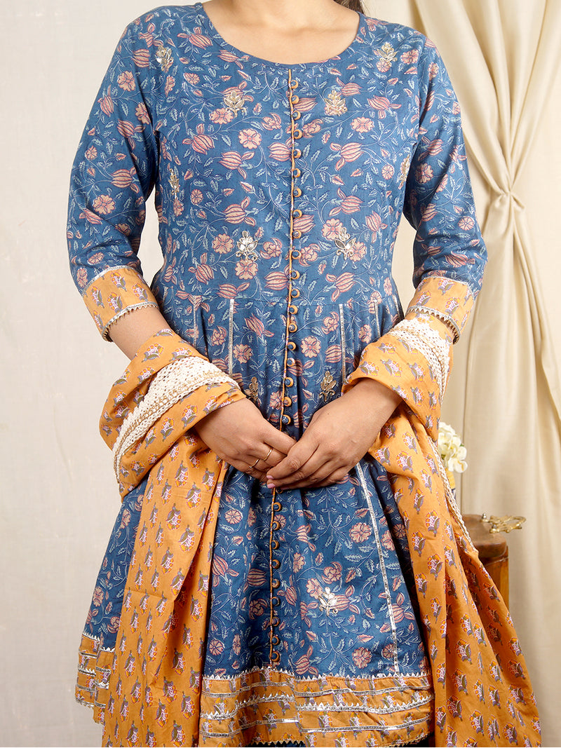 Fitoor Blue Sharara Set with Dupatta
