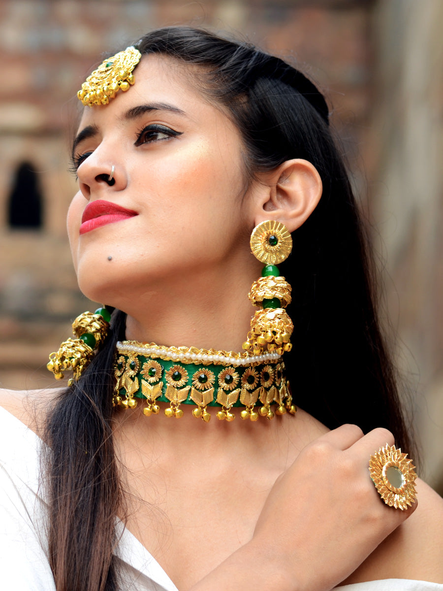 Asin Gota-patti Jewellery Set