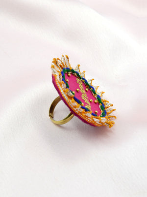 Dulhania Gota Patti Embroidered Ring