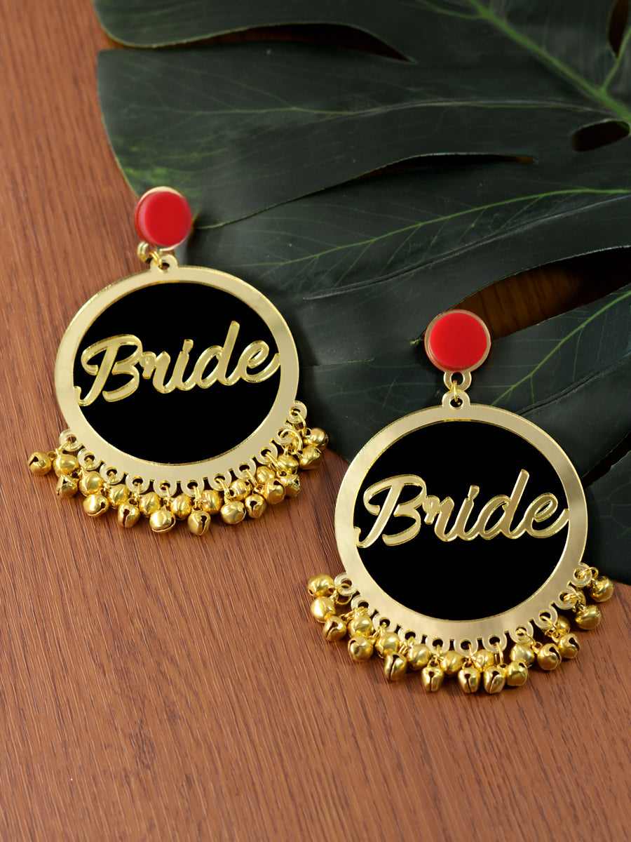 Bride Earrings, a quirky, unique, statement party-wear earrings from our designer collection of wedding themed earrings for women online.