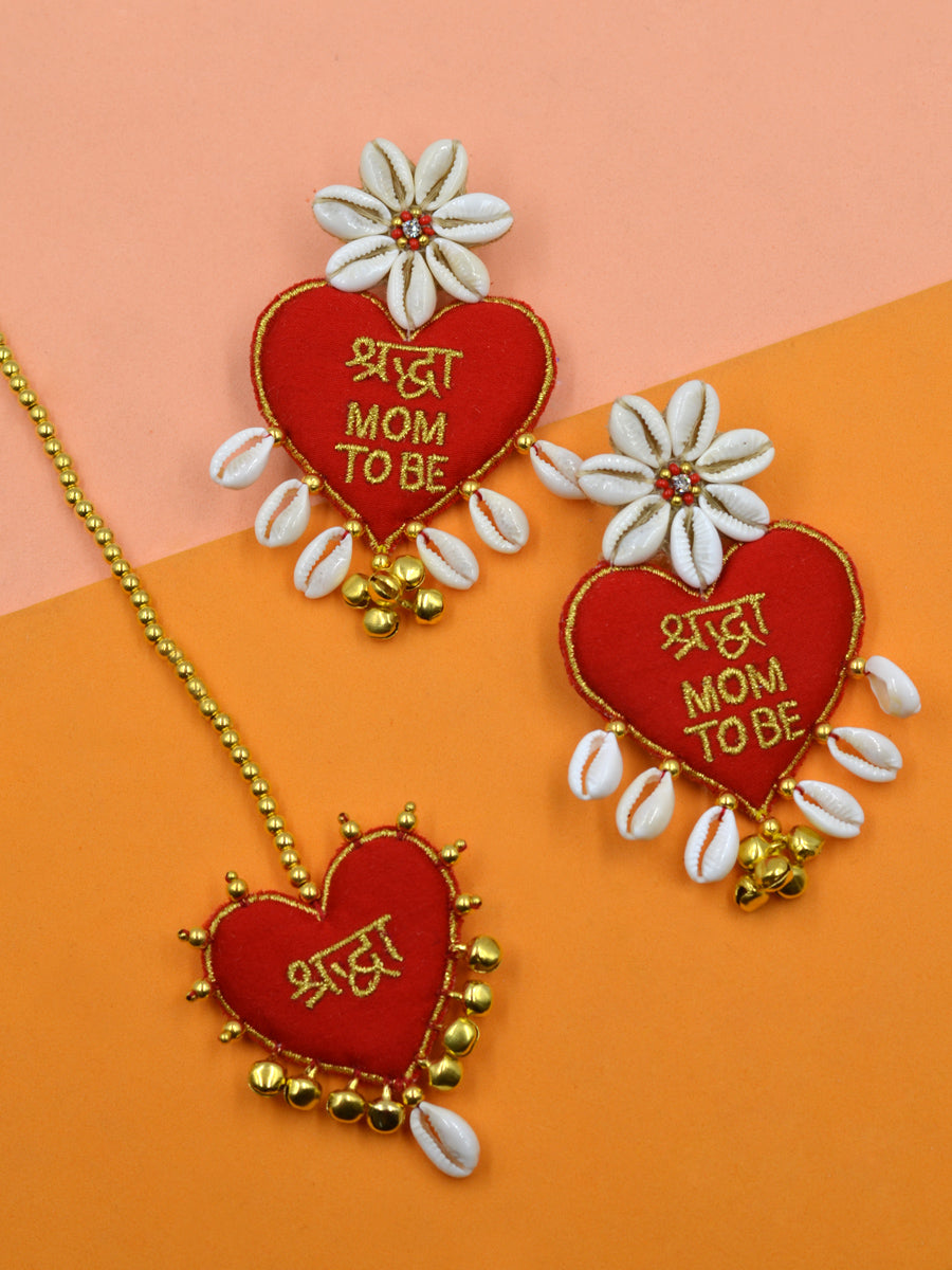 Customised Dulhania Set (Dulhania Heart Embroidered Shell Style)