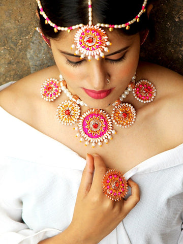 Shabana Kundan Pearl Earrings