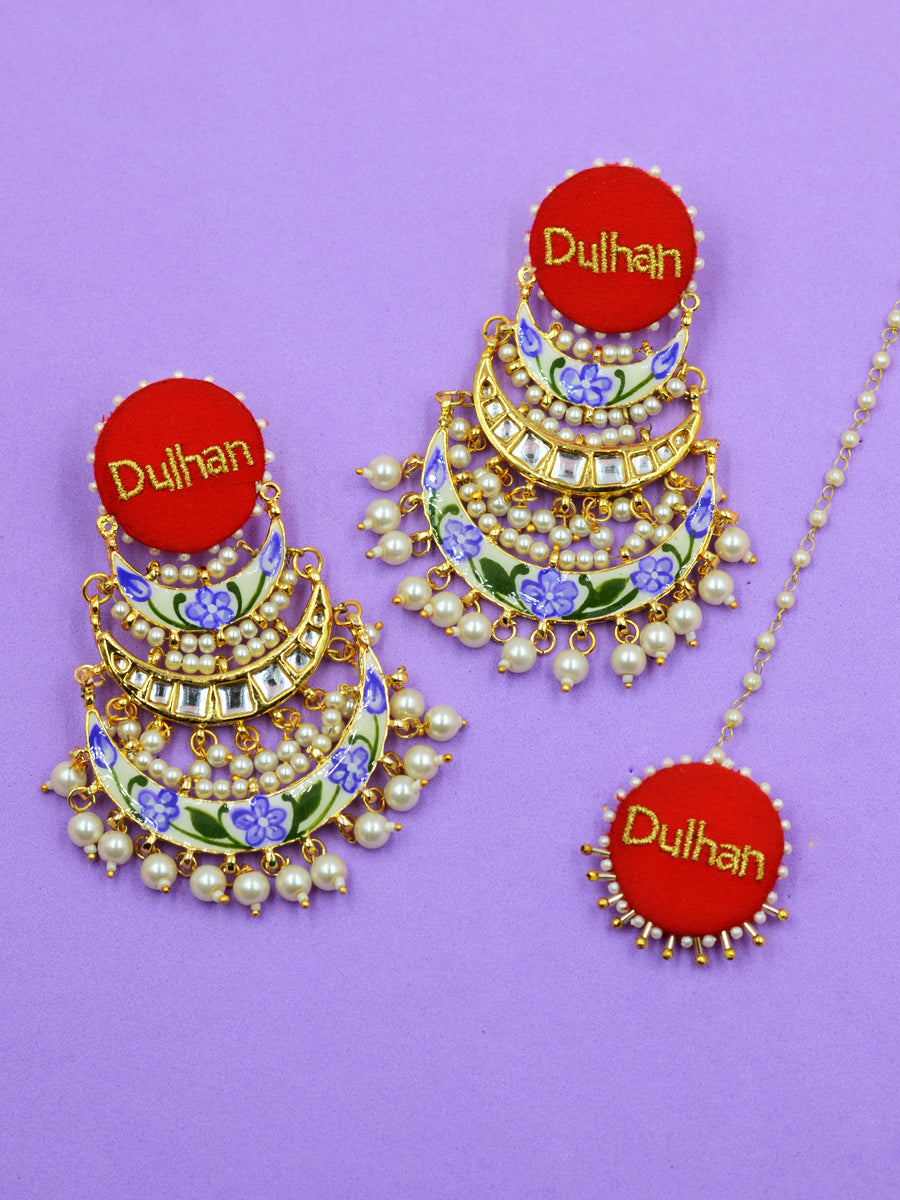 Dulhan Embroidered Kundan Set
