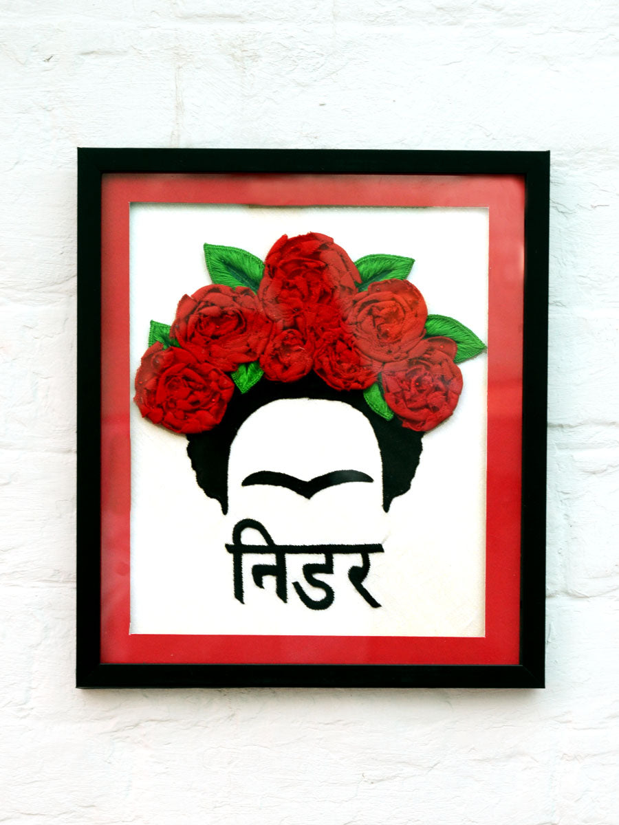 Nidar Frida Kahlo Wall Art, a unique handcrafted wall art from our wide range of quirky, bohemian home decor products like wall hangings, wall decor, thread art, cushion covers and more.