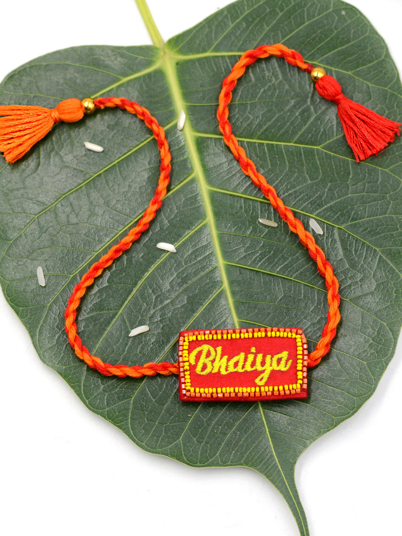 Bhaiya Embroidered Rakhi (English)