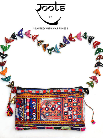 Safar Sling Bag in Kutch Embroidery 3