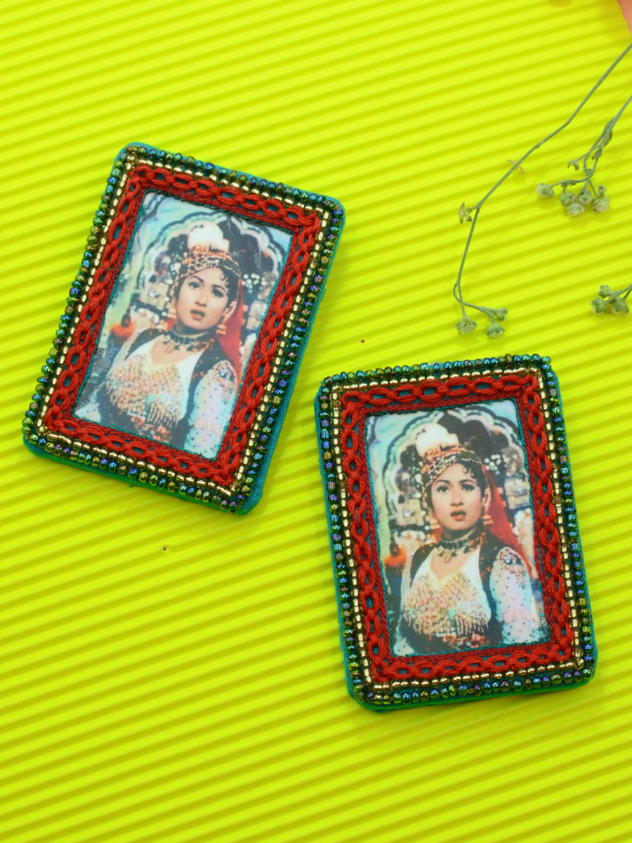 Anarkali Earrings, a quirky, unique, statement party-wear earrings from our designer collection of earrings for women online.