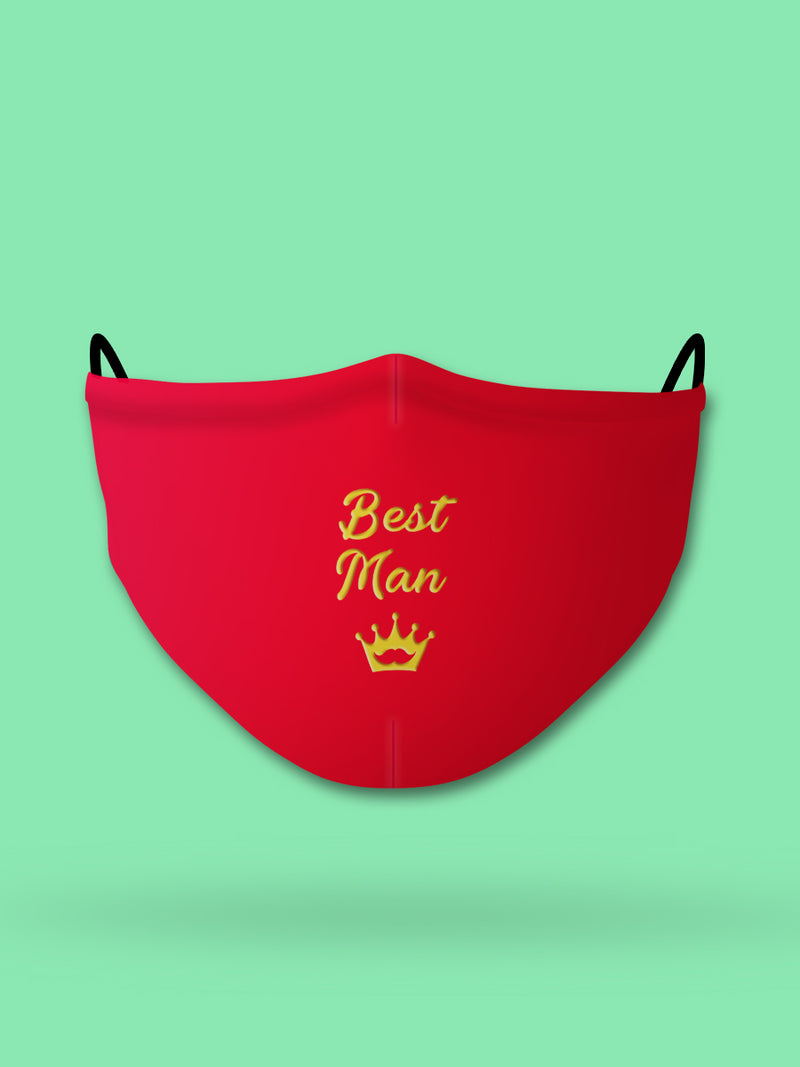Best Man Embroidered Wedding Face Mask