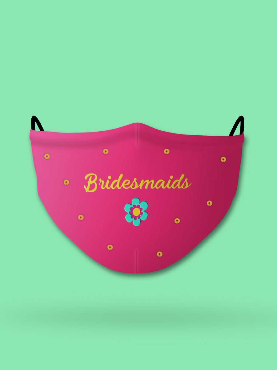 Bridesmaids Embroidered Wedding Face Mask