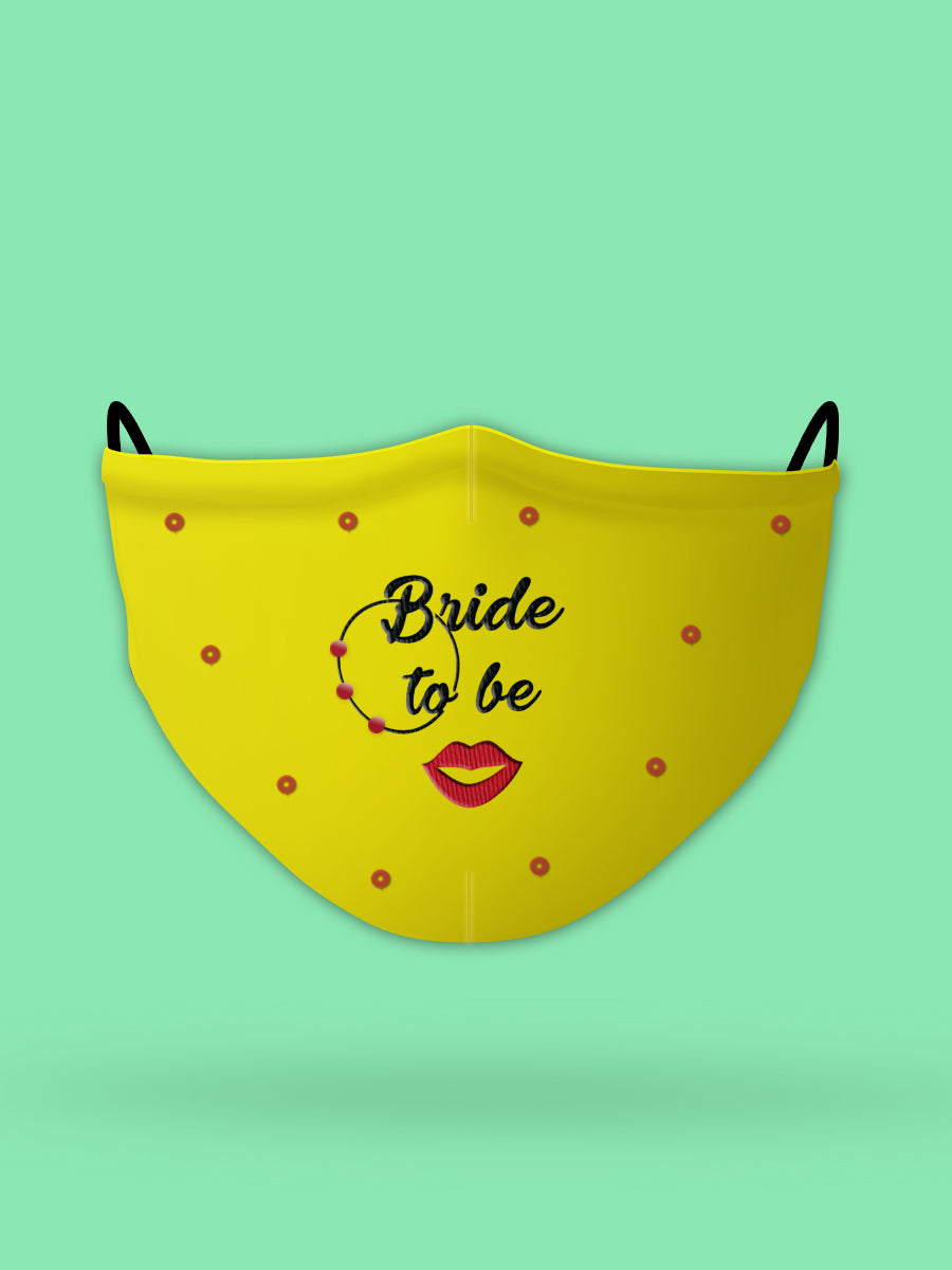 Bride To Be Embroidered Wedding Face Mask